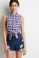 Forever 21 FOREVER 21+ Self-Tie Western Shirt