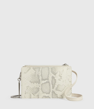 AllSaints Claremount Leather Chain Crossbody Bag