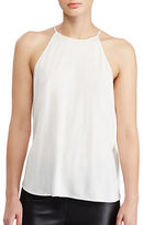 Polo Ralph Lauren Keyhole-Back Silk Blend Tank