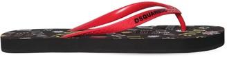 DSQUARED2 Logo Rubber Flip Flops