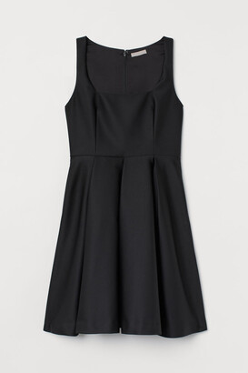 H&M Circle-skirt Dress - Black