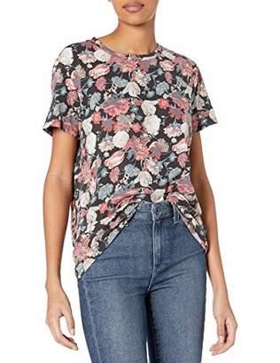 Lucky Brand Women's Short Sleeve Scoop Neck Floral Tee