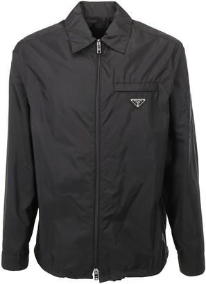 Prada Zipped Logo Shirt Jacket