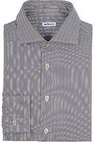 Kiton Men's Striped Cotton Twill Shirt