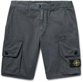 Stone Island Slim-Fit Brushed-Cotton Cargo Shorts