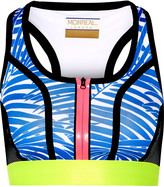 Monreal London Signature printed stretch-jersey and mesh sports bra