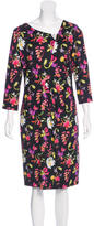 Escada Floral Print Sheath Dress
