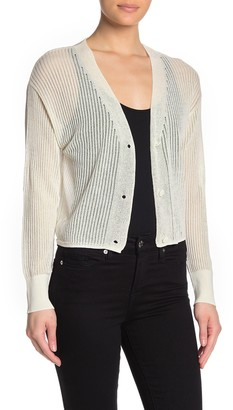 Max Studio Sheer Button Front Cardigan