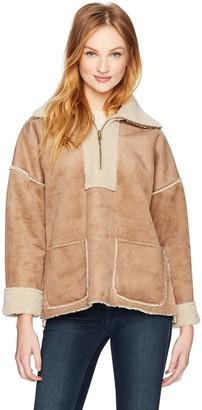Velvet by Graham & Spencer Women's Reversible Lux Sherpa Pullover