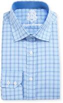 English Laundry Plaid Cotton Dress Shirt, Blue