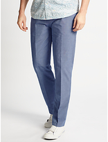 John Lewis End On End Cotton Trousers, Blue