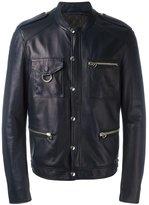 Lanvin press stud leather jacket