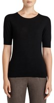 Lafayette 148 New York Women's Scoop Neck Merino Wool Top