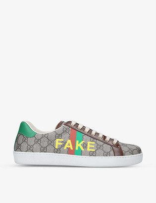 Gucci New Ace Fake/Not canvas trainers