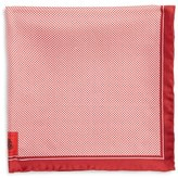 Robert Talbott Men's Herringbone Silk Pocket Square