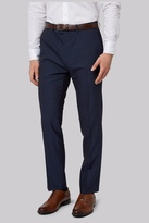French Connection Slim Fit Blue Mohair Look Pants