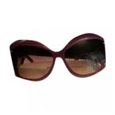 Balenciaga Purple Plastic Sunglasses