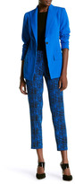 Anne Klein Luongo Bowie Printed Cropped Pant