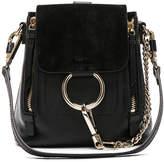 Chloé Mini Faye Calfskin & Suede Backpack