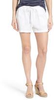 Caslon Drawstring Linen Shorts (Petite)