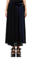 Sacai Women's Accordion-Pleated Skirt-BLACK
