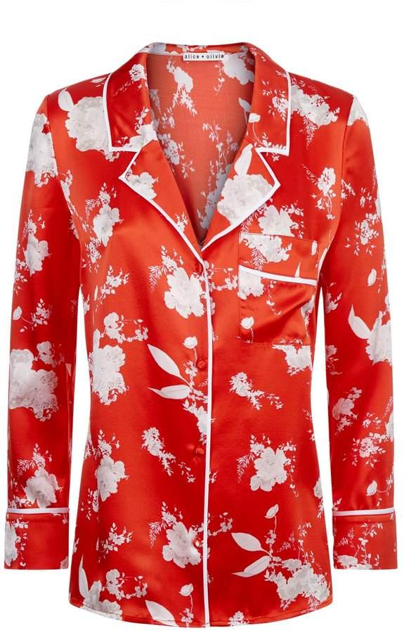 Alice + Olivia Keir Pyjama Style Shirt