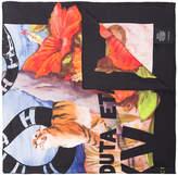 Gucci Guccify Hawaiian print silk scarf