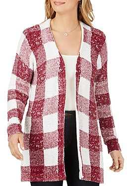 Foxcroft The Bardot Buffalo Plaid Cardigan