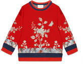 Gucci Floral embroidered sweatshirt