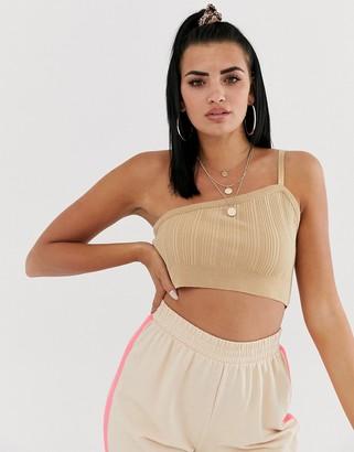 Asos DESIGN one shoulder knitted crop top