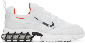 Nike White Stussy Edition Air Zoom Spiridon Kukini Sneakers