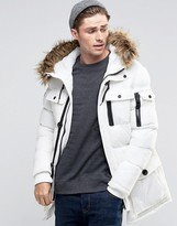 Brave Soul Arctic Faux Fur Hooded Parka Jacket