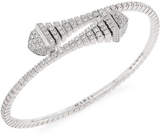 Marli Cleo By Rev 18K White Gold & Diamond Bangle Bracelet