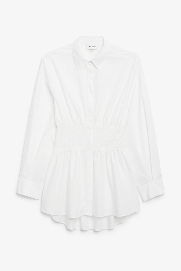 Thumbnail for your product : Monki Shirred waist shirt