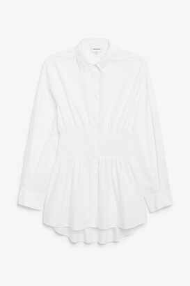 Monki Shirred waist shirt