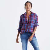 Madewell Flannel Oversized Ex-Boyfriend Shirt in Brookside Plaid