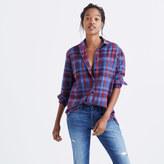 Madewell Flannel Oversized Ex-Boyfriend Shirt in Brookside Plaid