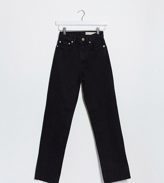 Asos Tall ASOS DESIGN Tall High rise 'effortless' stretch kick flare jeans in black