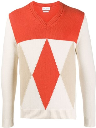 Ballantyne Diamond-Pattern Knit Jumper