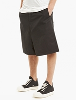 Rick Owens Black Oversized Magnum Shorts