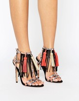 Asos HEY BABY Tassel Heeled Sandals