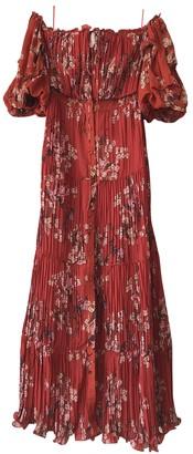 Johanna Ortiz Red Silk Dresses
