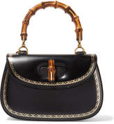 Gucci Bamboo Classic 2 Embellished Leather Tote - Black