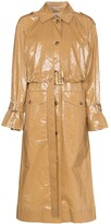 REJINA PYO belted laminated cotton trench coat