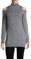Three Dots Merino Wool Cold Shoulder Sweater
