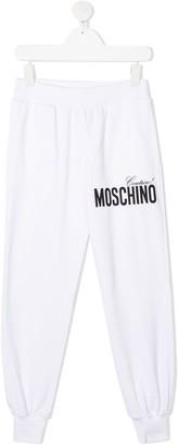 MOSCHINO BAMBINO Logo-Print Sweatpants