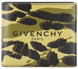 Givenchy Camouflage Logo Print Wallet