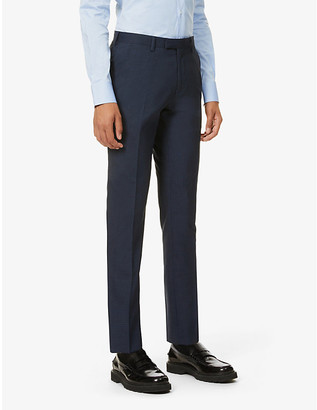 Ted Baker Checked wool-blend suit trousers
