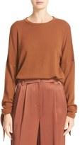 Tibi Women's Tie Sleeve Merino Wool Pullover