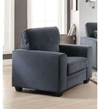 Latitude Run Keener Armchair Fabric: Polyester Blend Blue